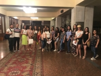 Syrian-Armenian Youth Watched a Performance at the State Theatre of Musical Comedy After Armenian Playwright Hakob Paronian
